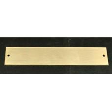 Skilt Messing poleret 150mm. x 30mm. x 1,5mm. med 2 skruehuller.