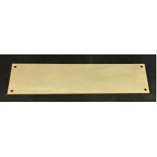Skilt Messing poleret 200mm. x 50mm. x 1,5mm. med 4 skruehuller.