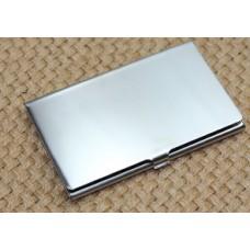 Kortholder fotogravering 01 rustfrit stål poleret.