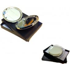 Spejl compact poleret, Leveres i gaveæske.