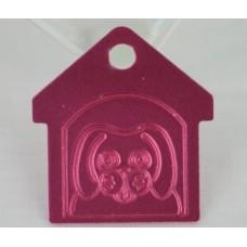 Hundetegn Aluminium, Max in house 28,2mm. x 31mm. 8 farver.