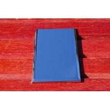 Skilt Plakette - Rhodium. 75mm. x 45,5mm. x 3,25mm.