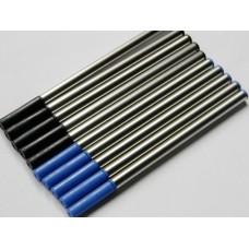 Blæk patron RollerBall pen standard 3 styk, vælg mellem 3 farver.