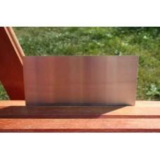 Skilt skuret rustfrit stål 200mm. x 100mm. x 1,5mm.