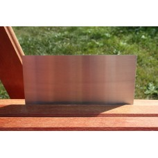 Skilt skuret rustfrit stål 160mm. x 80mm. x 1,5mm.