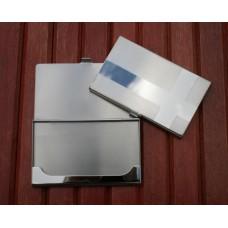 Kortholder tekstgravering 06 rustfrit stål poleret / skuret flag.
