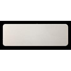 Reversskilt Laser Aluminium 25,4mm x 76,2mm x 0,5mm skuret sølv