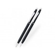 Kuglepen og blyant sæt Cross Classic Century, Black Lacquer.